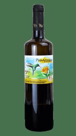 Botella del vino ecológico Pradomayo Gewürztraminer 2021