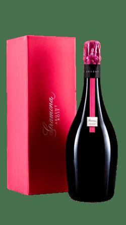 Estuche del vino espumoso brut rose de gramona