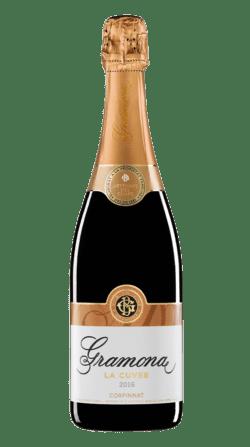 Botella de vino espumoso Gramona La Cuvee