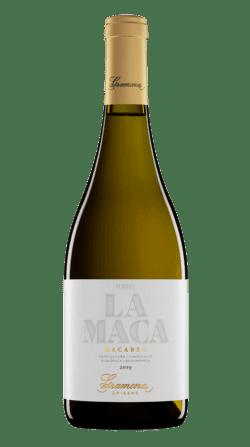 Botella del vino ecológico Gramona la Maca 2019