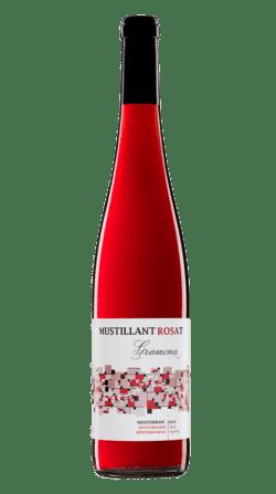 Botella de vino ecológico Gramona Mustillant Rosat