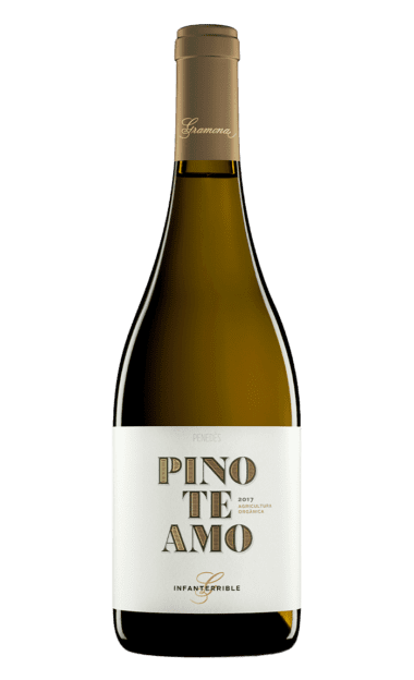 Botella del vino ecológico Gramona Pinoteamo
