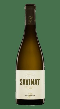 Botella del vino ecológico Gramona Savinat 2018
