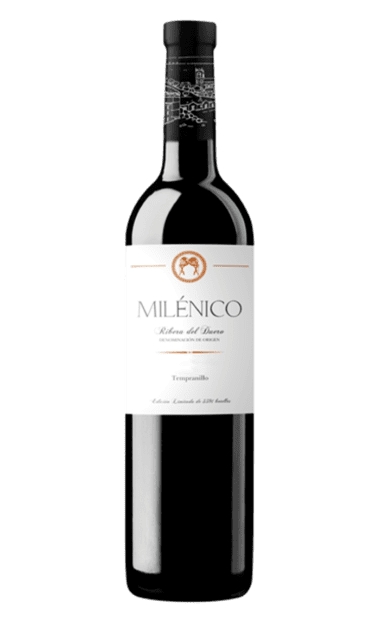 Botella del vino Milénico de la bodega Milénico